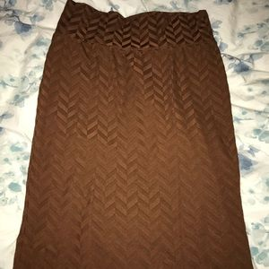 Dresses & Skirts - LuLaRoe brown chevron Cassie
